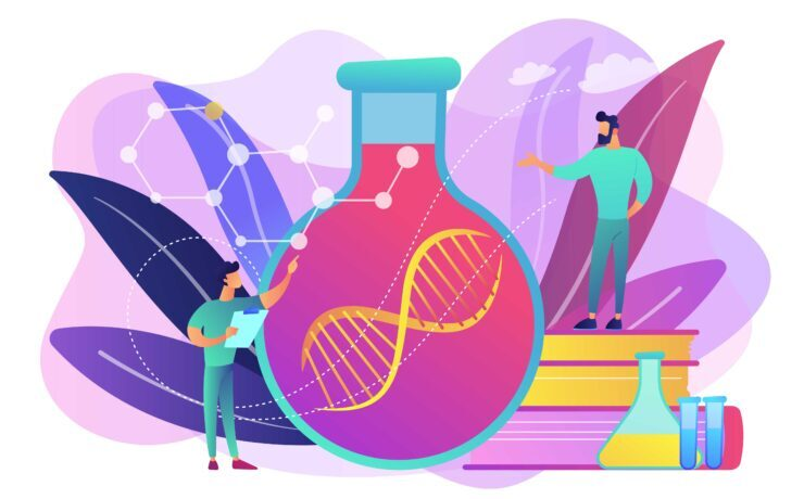 Gene therapy concept vector illustration.