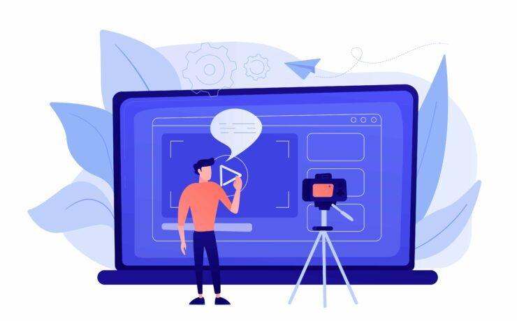 Vlog concept vector illustration.